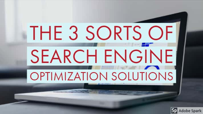 The 3 Sorts Of Search Engine Optimization Solutions