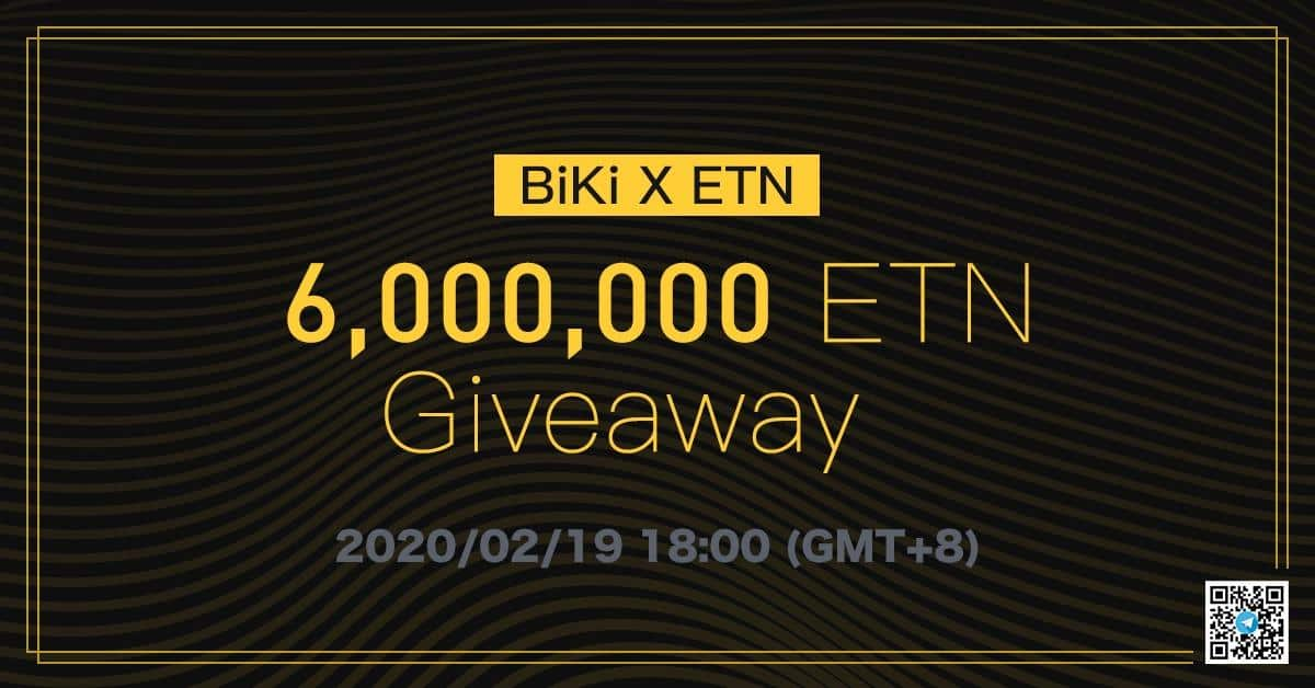 Crypto  investments  BiKi.com Reveals Electroneum Noting with 6 Million ETN Giveaway